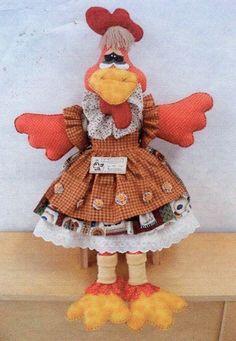 FELTRO MOLDES ARTESANATO EM GERAL: galinha de pano