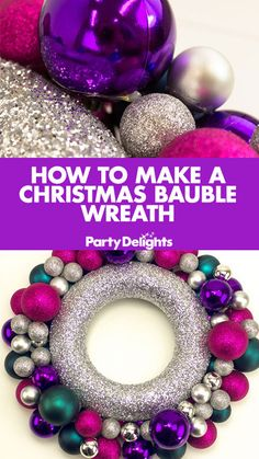 Find out how to make a Christmas bauble wreath with our easy Christmas DIY tutorial. DIY Christmas wreaths are the best and this one will look fantastically festive on your front door!