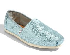 TOMS Blue Wedding Shoes for all the walking we are going to be doing in Vegas baby