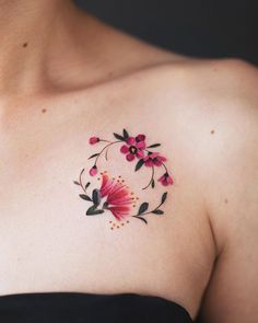 New Zealand Tattoo Flowers Tattoo Ideas - New zealand tattoo flowers – neuseeland tattoo blumen – fleurs de tat - Mini Tattoos, Circle Tattoos, Foot Tattoos, Cute Tattoos, Body Art Tattoos, Tribal Tattoos, Small Tattoos, Tattoos For Guys, Small Flower Tattoos