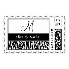 Black and White Zebra Print Monogram Wedding Stamps We have the best promotion for you and if you are interested in the related item or need more information reviews from the x customer who are own of them before please follow the link to see fully reviewsThis Deals          	Black an...