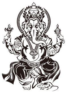 50 Beautiful Ganesha Tattoos designs and ideas With Meaning Ganesha Tattoos, Hindu Tattoos, Shiva Tattoo, Buddha Tattoos, Body Art Tattoos, Tribal Tattoos, Lord Ganesha, Lord Shiva, Arte Ganesha
