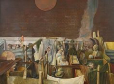 SAMUEL BAK B. 1933 UNTITLED signed BAK (lower left) oil on canvas 38 1/8 by 58 1/8 in