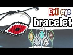 [305DIY]마크라메 이블아이 매듭팔찌만들기, macrame evil eye knot bracelets DIY tutorial - YouTube