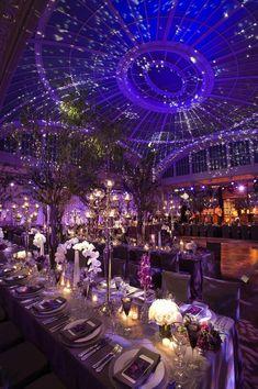 Exquisite Wedding Ceiling Photography: Gruber Photographers Read More: Best Wedding Venues, Wedding Themes, Wedding Receptions, Wedding Centerpieces, Wedding Decorations, Aisle Decorations, Wedding Favors, Centerpiece Ideas, Purple Centerpiece