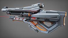 Sci Fi Weapon 2, Abhas Dhulekar on ArtStation at https://www.artstation.com/artwork/8ygGQ
