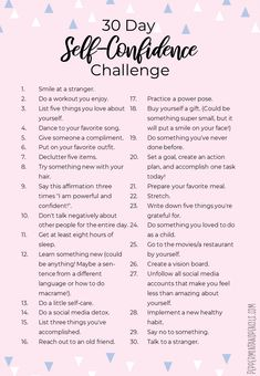 Building Self Confidence, Self Confidence Tips, Confidence Boost, Best Friend Challenges, 30 Tag, Self Care Bullet Journal, Vie Motivation, Self Care Activities, Self Improvement Tips