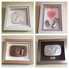 baby and casts and imprints essex Baby Crafts, Diy And Crafts, Arts And Crafts, How To Make Homemade, Homemade Baby, Monthly Baby Photos, Fingerprint Jewelry, Handprint Art, Kids Corner