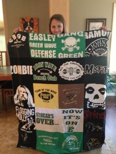 Tshirt Quilt by Project Repat - Holding Onto Memories of a loved uncle