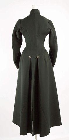 Coat1880s Culture: British Medium: wool, meta