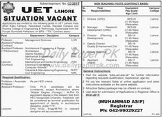 Faculty and Non Teaching Jobs in University of Engineering and Technology UET Lahore KSK Faisalabad For #jobs details and how to apply: http://www.dailypaperpk.com/jobs/256703/faculty-non-teaching-jobs-university-engineering-technology