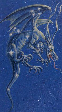 XVII. The Star - Dragons Tarot by Severino Baraldi
