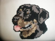 Handcrafted magnet of a Rottweiler dog Made by by BernysBlessings, $2.00
