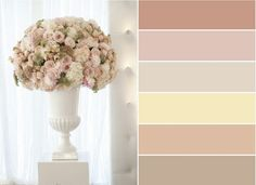 Wishes Eventos: Décor Inspiração: Blush, Cream, Nude e Fendi Colour Pallete, Colour Schemes, Color Combos, Color Palettes, Wedding Themes, Wedding Colors, Wedding Decorations, Design Seeds, Rustic Farmhouse Decor