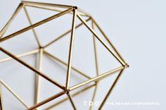 Handmade Holiday Decor: DIY Faux Brass Himmeli Orb | The Design Confidential