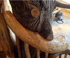 Custom made log railing  #Logs #Railing #Timber