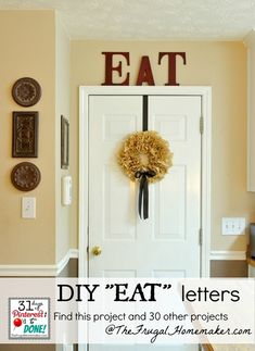 EAT letters in the kitchen {day 4 of 31 days of Pinterest: Pinned to Done}