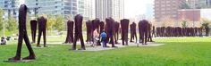"Magdalena Abakanowicz - The work creates a feeling of crowdedness, hence the name ""agora"". Furthermore, all the bodies end at the torso, giving them an eerie, anony..."