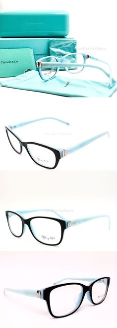 Eyeglass Frames: Tiffany And Co. 2084 8163 Eyeglasses Frames Glasses Black ~ Blue ~ Silver 55Mm -> BUY IT NOW ONLY: $144.95 on eBay!