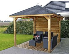 Patio is one of the beautiful areas of your house and you can also make more beautiful by making a gazebo over it by using few simple plans regarding patio gazebo. Building a gazebo on the patio is ju Hot Tub Gazebo, Gazebo Pergola, Backyard Canopy, Garden Canopy, Metal Pergola, Canopy Outdoor, Pergola With Roof, Canopy Tent, Gazebo Ideas