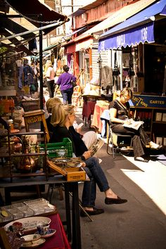 Les Puces de Saint-Ouen, the worlds largest flea market, Paris, France I love this flea market! Have you ever been?