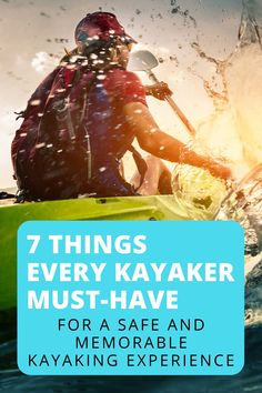 7 Things Every Kayaker Must Have - Kayaking Wonders Kayaking Near Me, Kayaking With Dogs, Kayaking Tips, Kayak Anchor, Kayak For Beginners, Wilderness Systems, Recreational Kayak, Kayak Rack, Kayak Boats