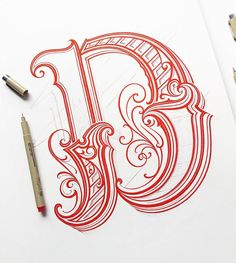 Letter D for a new print project Chicano Lettering, Graffiti Lettering Fonts, Hand Lettering Alphabet, Creative Lettering, Types Of Lettering, Lettering Styles, Lettering Design, Calligraphy Tattoo Fonts, Calligraphy Drawing