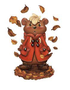Fall - Bear Illustration by S.K.Y. van der Wel  at Coroflot.com