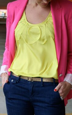 love pink and lime green! spring fever big time.