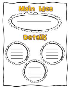 main idea graphic organizers | Click my blog button to go grab your FREE copy of this graphic ...