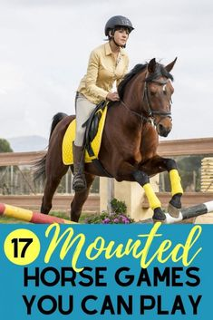 Here are 17 entertaining mounted horse games that will keep students occupied during lessons, horse camp, or just a rainy day in the indoor! Horse Games, Horse Riding Games, Play Horse, Riding Horses, Dressage Horses, Equestrian Outfits, Equestrian Fashion, Equestrian Style, Equestrian Problems