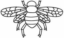 This basic golden bee became a symbol of Napoleon's empire and has been a decorative favorite ever since. Downloads as a PDF. Use pattern transfer paper to trace design for hand-stitching.