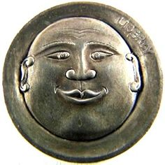 MARK THOMAS HOBO NICKEL - MOON FACE FELLOW - NO DATE BUFFALO NICKEL Mark Thomas, Hobo Nickel, Moon Face, Modern Times, Buffalo, Coins, Carving, The Originals, Rooms