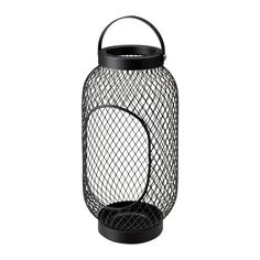 IKEA - TOPPIG, Lantern for block candle, black, The warm light from the candle shines decoratively through the pattern on the lantern. Use only 1 block candle with a max. height of 15 cm and a max. Ikea Halloween, Halloween Home Decor, Halloween Decorations, Ikea Outdoor, Outdoor Furniture, Ikea Lanterns, Candle Lanterns, Led Candles, Ikea Exterior