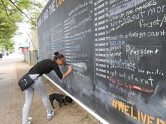 A giant blackboard on a city street is encouraging strangers to share their secrets - The Washington Post