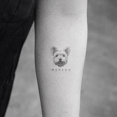 Tatuagem de cachorro do Mr. K, do estúdio Bang Bang em Nova York. #cachorro #delicada #tattoo
