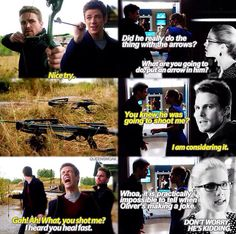 Arrow - Oliver, Barry and Felicity #Olicity <3