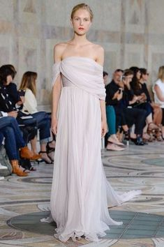 Grecian draped gown