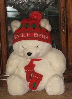 Jingle Bear omg my mom must have spent thousands at macys to get these bears! Makes me laugh now..