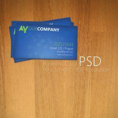 Blue Business Card PSD by Martz90.deviantart.com on @deviantART