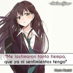 Me lastimaron #ShuOumaGcrow #Anime #Frases_anime #frases
