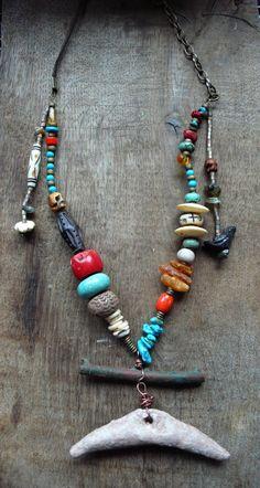 Ancient Salsa-talisman necklace