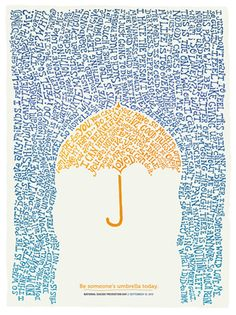 Be someone's umbrella today. Love this!