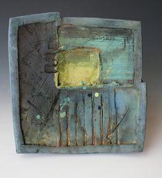 Rustic handbuilt decorative platter in dusty por HouseOfCeramics, $82,00