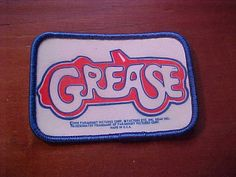 Vintage Dated 1978 GREASE Patch Car Logo New Old Stock by TJMARZ