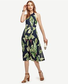 f087f48f954 With a lush print and flattering flare