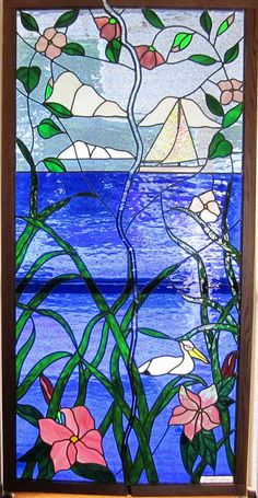Stained Glass Windows Glass Art - Opening Window Of Beauty by Gladys Espenson