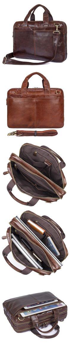 Full Grain Leather Briefcase For Men Leather Business Tote Bag Mens Natural Leather Shoulder Messenger Bag JMD7092 Briefcase For Men, Leather Briefcase, Canvas Backpacks, Natural Leather, Christmas Shopping, Leather Men, Messenger Bag, Laptop, Tote Bag