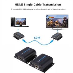 LKV372A HD 1080P HDMI Extender TXRX 60M with IR over CAT6 RJ45 Ethernet Cable Support HDMI 3D for HDTV DVD Player Digital Cable