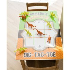 Dinosaur Excavation Dino Dig Birthday Tic Tac by arpartyprintables